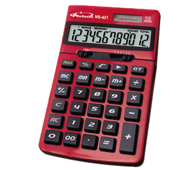12 Digits Red Color Office Calculator NS-421-01