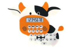8 digits cute animal silicon calculator NS-6012