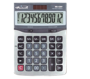 Business Calculator with Metal Cover NS-120V