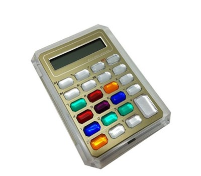 Colorful crystal key calculator NS-6001