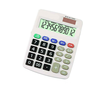 Dual power 12 digit Mini Calculator NS-331