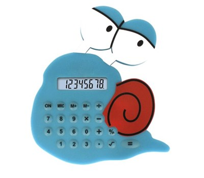 Mini silicon rubber snail shape calculator NS-6007