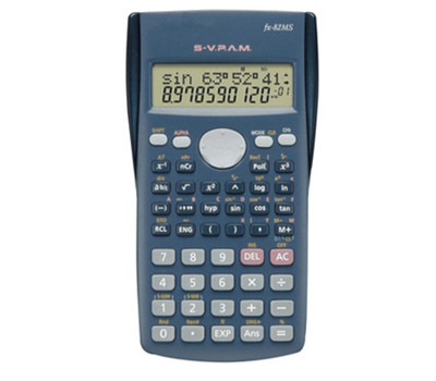 Scientific Calculator 240 Functions Statistics 2-Line Display FX-82MS